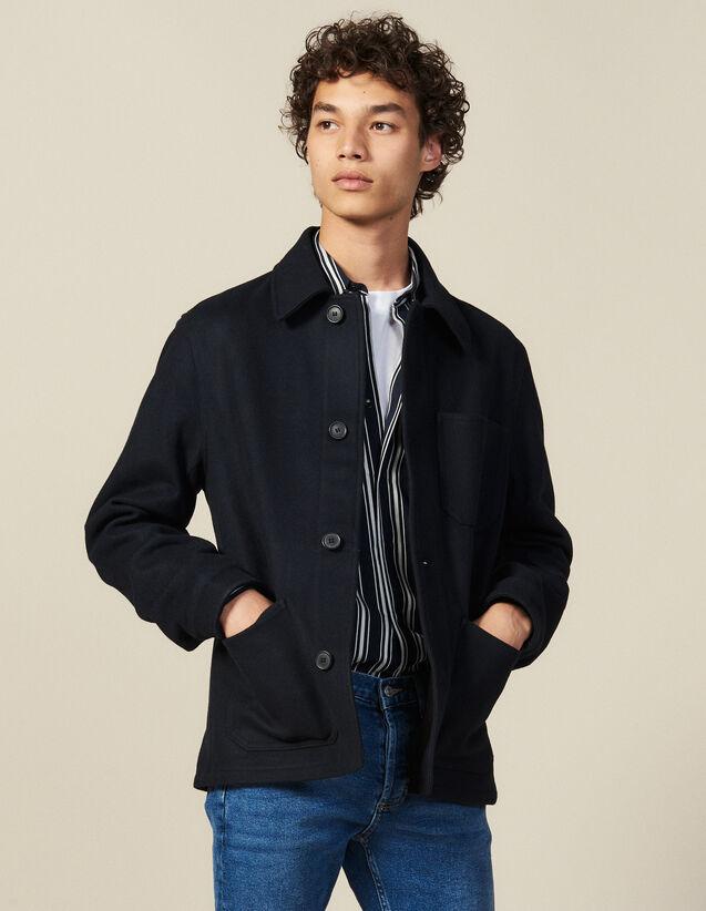 Woolcloth Jacket : Blazers & Jackets color Navy Blue