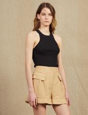 Ruffled Shorts : LastChance-FR-FSelection color Beige