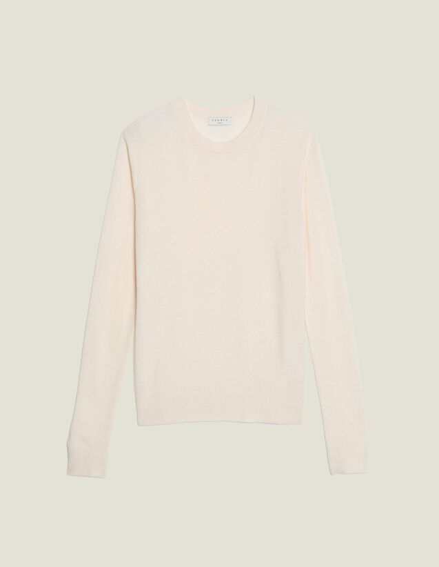 Fine Fancy Stitch Sweater : Sweaters & Cardigans color Off-White