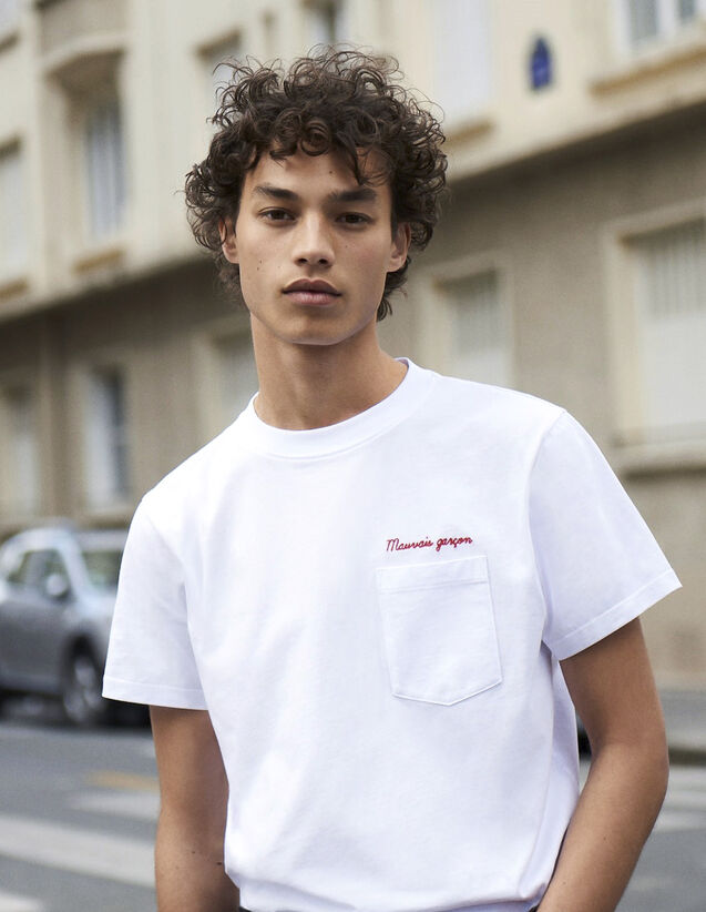 Cotton T-Shirt With Lettering : All Winter collection color white