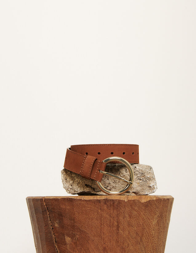 Leather belt : All Winter collection color Havane