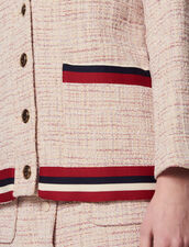 Tweed Cardigan-Jacket : All Selection color Pink