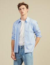 Striped Zipped Shirt : Sélection Last Chance color Blue