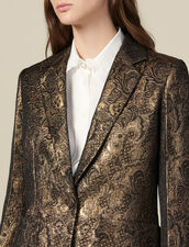 Brocade tailored jacket : LastChance-ES-F50 color Gold