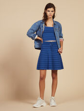 Short Flared Knit Skirt : All Selection color Blue Jean