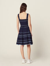 Pointelle Knit Dress With Straps : null color Navy Blue