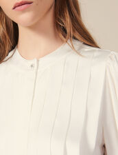 Blouse with knife pleats : FBlackFriday-FR-FSelection-30 color Ecru