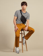 Cotton Canvas Trousers : All Selection color Ochre