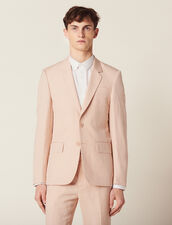 Linen Blend Suit Jacket : Sélection Last Chance color Light pink