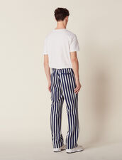 Trousers With Contrasting Stripes : Sélection Last Chance color Navy Blue