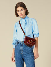 Silk Shirt Edged With Ruffles : LastChance-ES-F40 color Blue sky