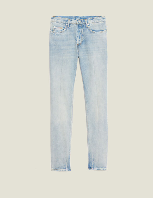 Light Washed Jeans - Narrow Cut : Jeans color Blue Vintage - Denim