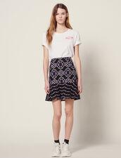 Short Guipure Skirt : All Selection color Black
