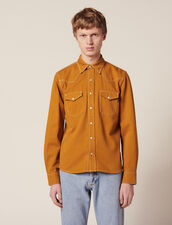 Cotton Fabric Shirt : Sélection Last Chance color Ochre
