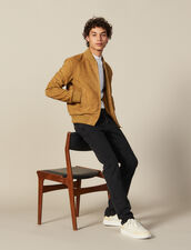Suede Zipped Jacket : Sélection Last Chance color Beige