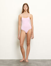 Bodysuit with rhinestones on the straps : Tops & Shirts color Mauve
