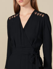Wrapover Jumpsuit : Jumpsuits color Black