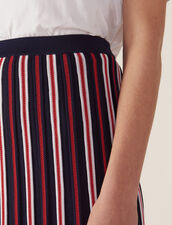 Long Knit Skirt With Pleats : Skirts & Shorts color Navy Blue
