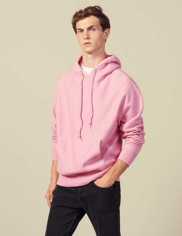 Cotton Hoodie : Sweatshirts color Pink