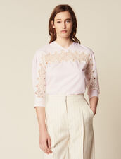 Top With Lace Insert : LastChance-FR-FSelection color Pink