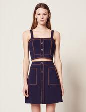 Short Knit Skirt : Skirts & Shorts color Navy Blue