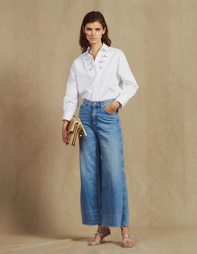 Wide Leg Jeans : All Selection color Blue Vintage - Denim
