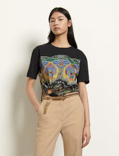 T-shirt with printed insert : T-shirts color Black