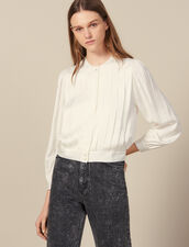 Blouse With Knife Pleats : Tops & Shirts color Ecru