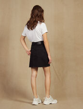 Short Denim Skirt : Skirts & Shorts color Black