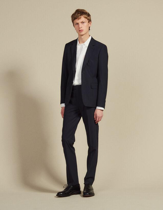 Cotton Suit Trousers : Suits & Tuxedos color Ink