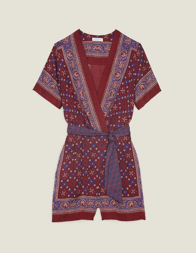 Printed Playsuit : All Selection color Bordeaux