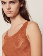 Fine Ribbed Knit Top : All Selection color Terracotta