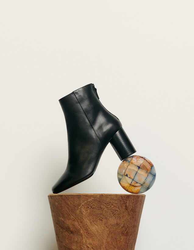 Leather ankle boot : All Shoes color Black