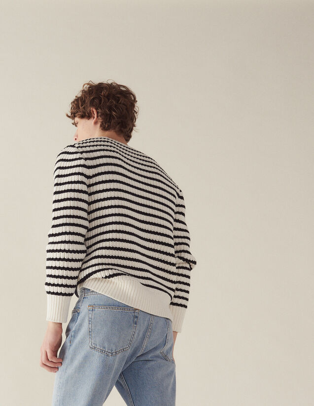 Breton Sweater With Fancy Rib : All Selection color Ecru
