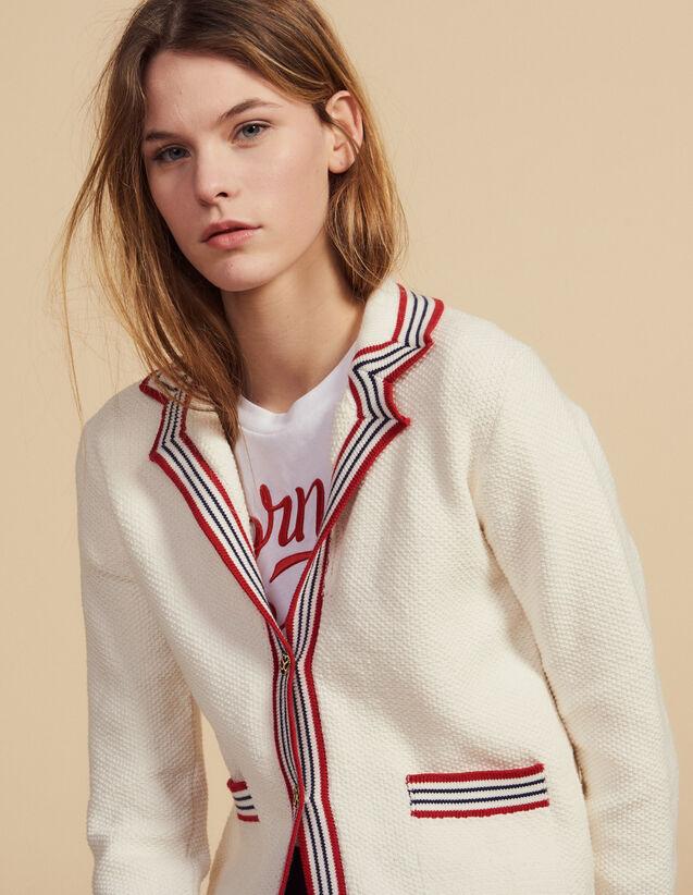 Nautical Style Cardigan : Sweaters & Cardigans color Ecru