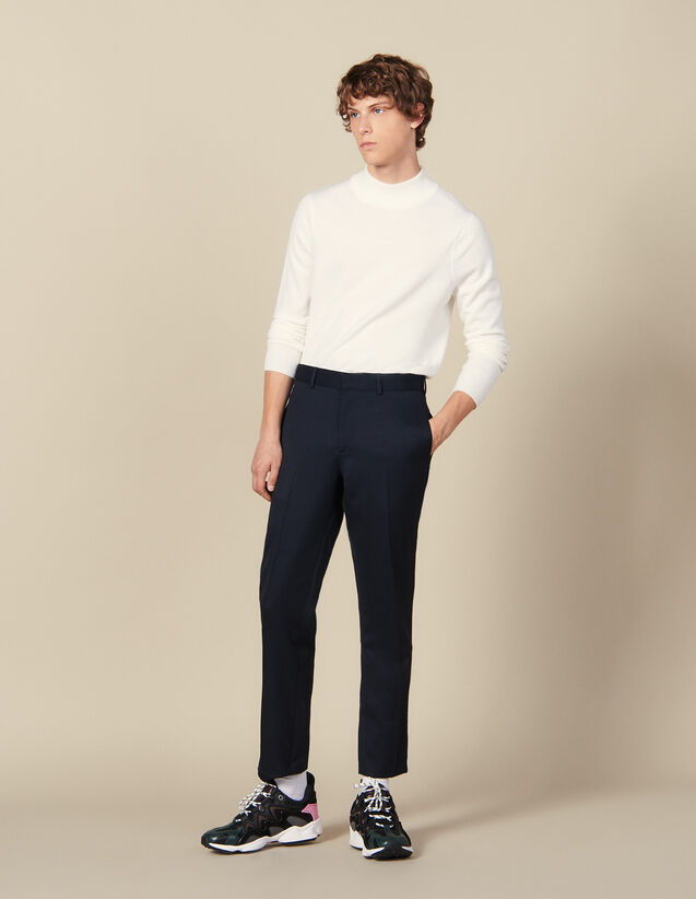 Classic Trousers : Winter Collection color Navy Blue
