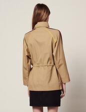 Windbreaker Coat : Coats color Beige