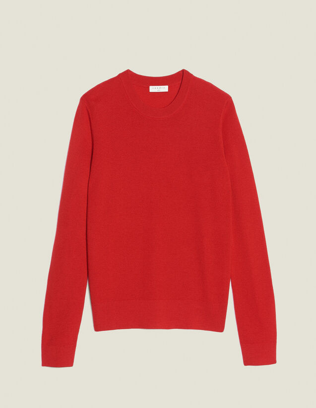 Fine Fancy Stitch Sweater : All Selection color Red