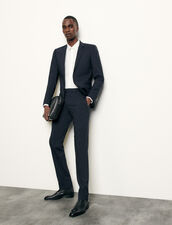 Classic wool suit trousers : Suits & Tuxedos color Navy Blue