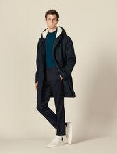Cotton parka with faux sheepskin lining : LastChance-IT-H50 color Navy Blue