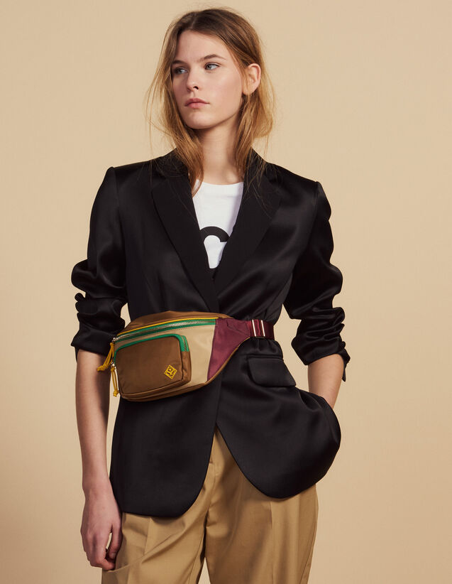 Matching Satin Tailored Jacket : All Selection color Black