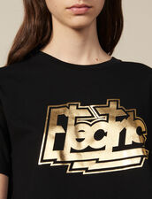 Cotton T-Shirt With Lettering : FBlackFriday-FR-FSelection-50 color Black