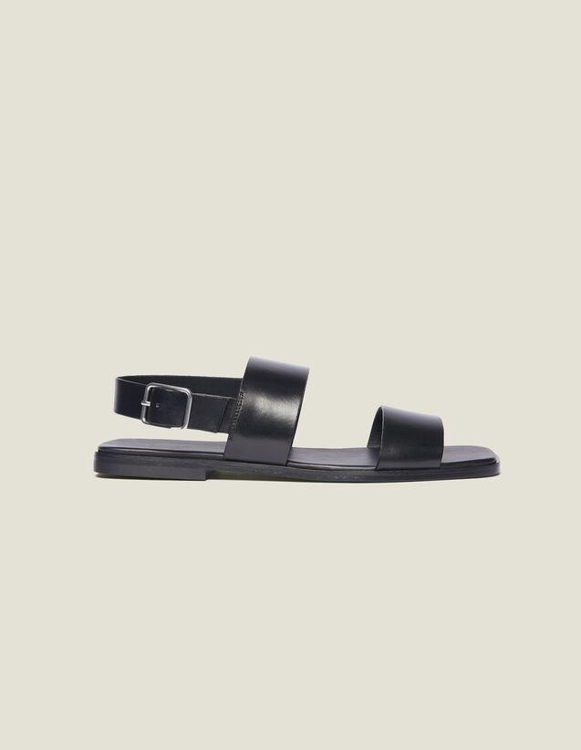 Leather Sandal : Shoes color Black