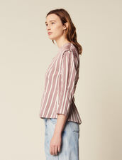 Long-Sleeved Striped Top : All Selection color Bordeaux