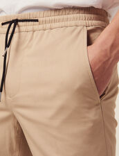 Cotton Trousers With Elasticated Waist : All Selection color Beige
