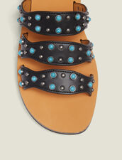 Wedge Sandals With Beading : All Shoes color Black