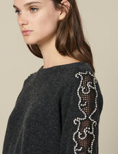 Sweater With Rhinestones And Boat Neck : FBlackFriday-FR-FSelection-30 color Charcoal Grey