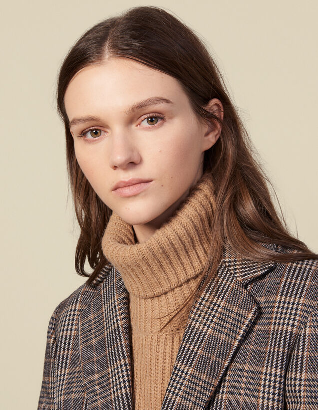 Wool Snood : Scarves color Camel