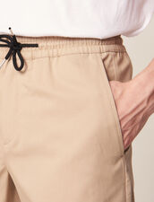 Drawstring Waist Bermuda Shorts : All Selection color Beige