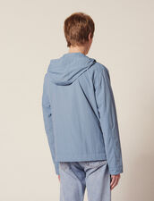 Technical Jacket With Hood : Sélection Last Chance color Bluish Grey